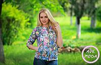 Женский модный пиджак с карманами спереди на застежке молнии качественного кроя 382 ЕП