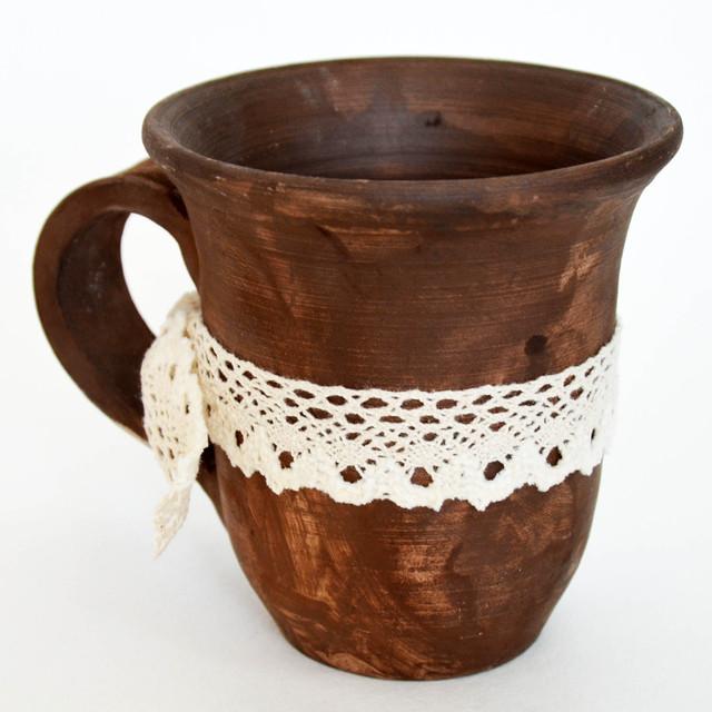 Глиняная чайная чашка