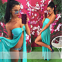 Туника женская пляжная без рукавов P3116, фото 1