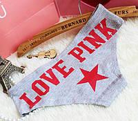 Трусики/Слипы Love Pink Victoria's Secret, серые, фото 1