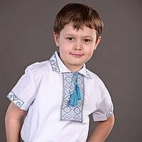 Детская вышиванка для мальчика с коротким рукавом, фото 1