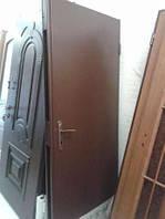 Двери входные металические технические с вагонкой