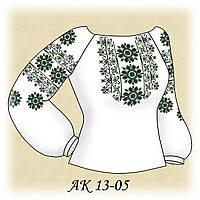 Заготовка женской сорочки для вышивания АК 13-05 Элегия габардин, льняной