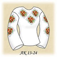 Заготовка женской сорочки для вышивания АК 13-24 Цветочная Фантазия габардин, льняной