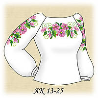 Заготовка женской сорочки для вышивания АК 13-25 Изящная габардин, льняной
