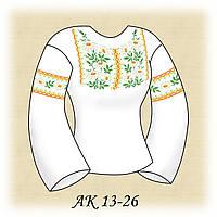 Заготовка женской сорочки для вышивания АК 13-26 Ромашка габардин, льняной