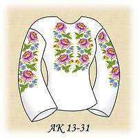 Заготовка женской сорочки для вышивания АК 13-31 Петриковские Мотивы габардин, льняной