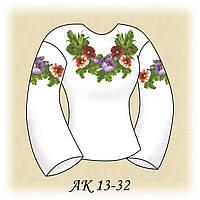 Заготовка женской сорочки для вышивания АК 13-32 Бархатное Лето габардин, льняной