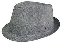Шляпа серая классическая Прага