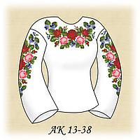 Заготовка женской сорочки для вышивания АК 13-38 Вальс Цветов