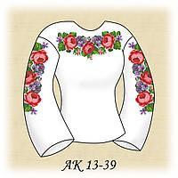 Заготовка женской сорочки для вышивания АК 13-39 Розы и Фиалки
