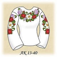 Заготовка женской сорочки для вышивания АК 13-40 Гортензия
