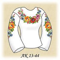 Заготовка женской сорочки для вышивания АК 13-44 Радуга габардин, льняной