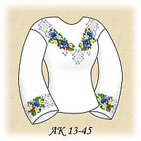 Заготовка женской сорочки для вышивания АК 13-45 Колокольчики