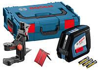 BOSCH GLL 2-50 + BM1 + LR2 + L-BOXX Professional - Автоматический линейный лазерный нивелир (лазерный уровень)