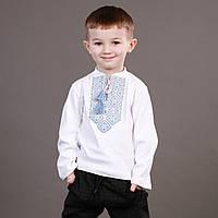 Трикотажная кофточка-вышиванка для мальчика на длинный рукав
