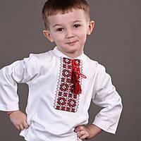 Практичная трикотажная вышиванка для мальчика на длинный рукав, фото 1