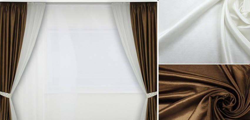 Шторы портьерные Шанзелизе Комби №6 (2 шторы), фото 2