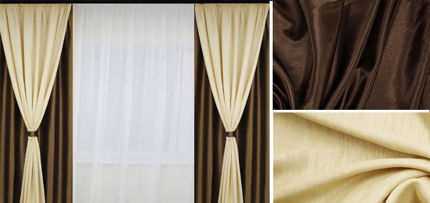 Шторы портьерные Шанзелизе Комби №8 (2 шторы), фото 2