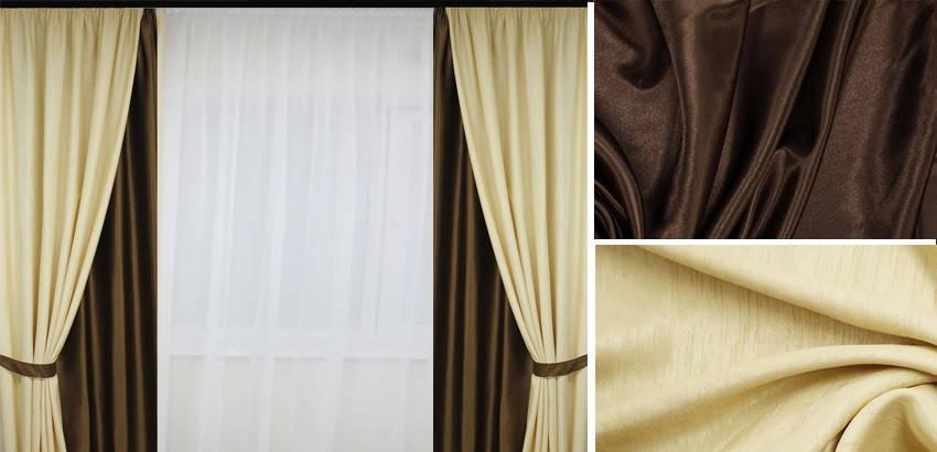 Шторы портьерные Шанзелизе Комби №9 (2 шторы), фото 2