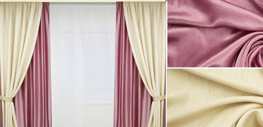 Шторы портьерные Шанзелизе Комби №10 (2 шторы), фото 2