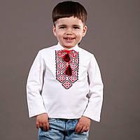 Детская кофточка-вышиванка для мальчика в садик или школу