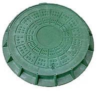 Люк легкий каналізаційний полімерпіщаний ЛМ (А15)-1-48, фото 1