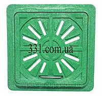 Люк-міні пластмасовий квадратний решітка 300х300