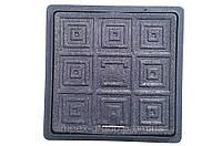 Люк пластмасовий квадратний 500х500 (чорний)
