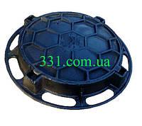 """Люк чавунний каналізаційний важкий типу """"В-Б"""" С250 (КВ), фото 1"""