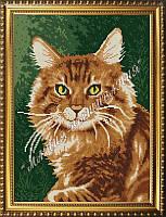 Схема для вышивания бисером Рыжий кот