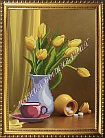 Схема для вышивания бисером Солнечные желтые тюльпаны