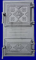 "Дверка спарена чавунна ""Вишиванка"" 265х480 (75) (БТ)"