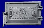 "Дверка спарена чавунна ""Вишиванка"" 265х480 (75) (БТ), фото 2"