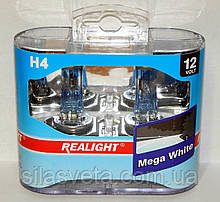 """Автомобильные галогенные лампы """"REALIGHT"""" (H4)(Mega White)(12V)(60/55W)"""