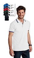 Мужские рубашки поло с коротким рукавом на пуговицах Sols PASADENA MEN