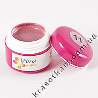Цветной гель Viva nails №11 грязно-розовый тёмный