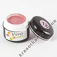 Цветной гель Viva nails №12 грязно-розовый светлый