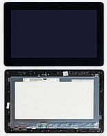 Дисплейный модуль (дисплей + сенсор) для ASUS Transformer Book T100, с рамкой, черный, оригинал