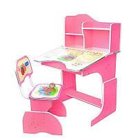 Детская парта со стульчиком HB-2071-02 синяя, розовая, салатовая., фото 1