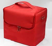 Чемодан-сумка тканевый для инструмента.Цвет-красный.Размеры 29х21х27