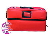Профессиональный кейс для косметики с вынимающимся органайзером, красный