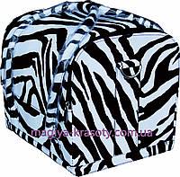 Бьюти Кейс для косметики. Цвет зебра, эксклюзивная модель. Размеры 30х26х23