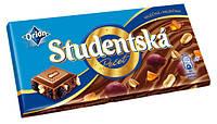 Молочный шоколад Studentska «Mlecna» с арахисом, изюмом и цитрусовым желе,180 г