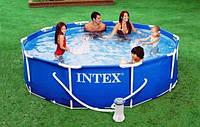 Каркасный бассейн Intex 366х76 см. отдых для всей семьи, фото 1