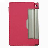"""Кожаный чехол-книжка для планшета Lenovo Yoga Tablet 3 8"""" 850F/850M TTX с функцией подставки Красный"""
