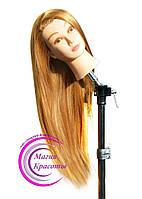 Учебная голова-манекен с волосами, длина 65-70 см, цвет золотистый, фото 1