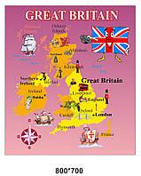 Баннер - карта для школы в Кабинет английского языка
