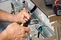 Замена кнопки включения, сетевого фильтра, конденсатора, сетевого шнура посудомоечной машины