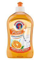 Рідина для миття посуду (конц., нейтр pH) - CC PIATTI ARANCIO, 500 ml.